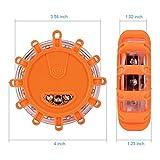 Linkitom 12 Pack LED Road Flare, Emergency Roadside