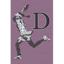 D Monogram Initial Tennis Journal: Personalized Tennis Gift, 6x9 lined blank notebook, 150 pages, journal to write in for journaling, notes, or inspirational quotes, paperback composition book