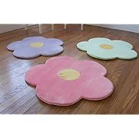 Flower Area Rug for Kids Girls Room, Girls Area Rugs,...
