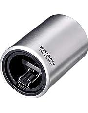 Westmark Automatische kurkentrekker, voor kroonkurken, geborsteld aluminium, Push&Pull, zilver, 5,3 x 5,3 x 8 cm
