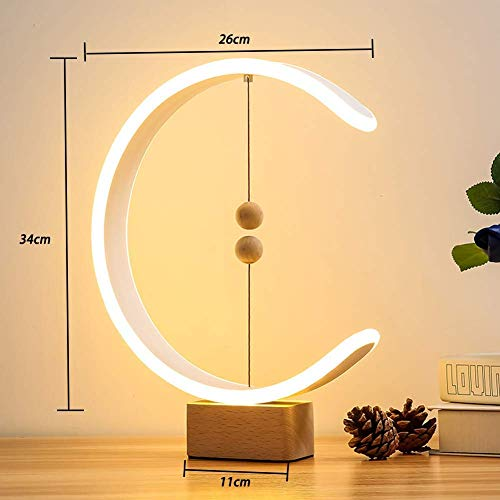 【2020 Update】Desk Lamps, DHTS Heng Balance lamp Switch on in mid-air, Personality Table Lamps Nightstand Mini Desk Light for Bedroom, Living Room, Baby Room