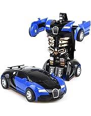 Dan&Dre Transformers leksaker fjärrkontroll transformator bil 2 i 1, robotbil transformator barnleksak småbarn bilrobotar cool leksak för pojkar födelsedag