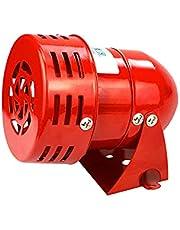 Fafeicy MS-190 Elektrische sirene, 220 V, 120 dB, industrieel geluid, bescherming tegen diefstal, rood, motoraangedreven sirenen, metalen hoorn, industriële bootalarm