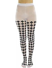 Black & White Jester Diamond Harlequin Tights