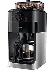 Philips Koffiezetapparaat Grind & Brew - Geintegreerde koffiemolen - Met glazen kan - Sterkte instellingen - Geschikt voor gemalen koffie - Druppelstop - Waterniveau aanduiding - HD7767/00