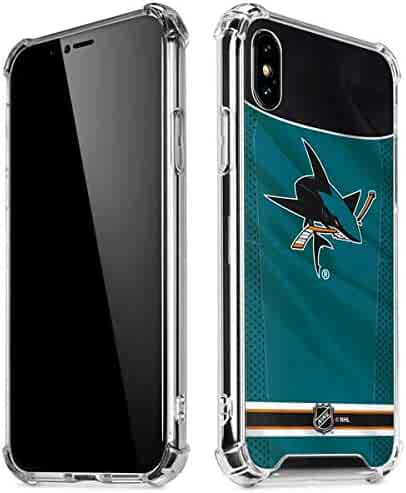 5e0e124dc93 Skinit San Jose Sharks Home Jersey iPhone XR Clear Case - Officially  Licensed NHL Phone Case