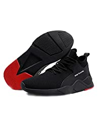 abbort 1 Pair Heavy Duty Sneaker Safety Work Shoes Breathable Anti-Slip Puncture Proof for Men