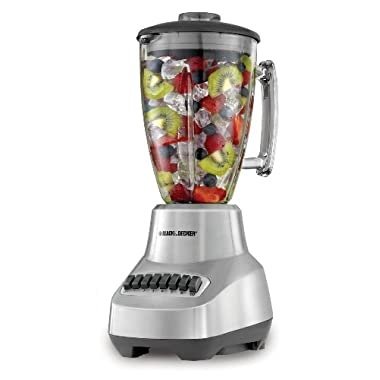 BLACK+DECKER BL3500S Countertop Blender with 6-Cup Glass Jar, 12- Speed Settings, Silver Blender