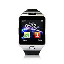 Yuntab SW01 Bluetooth Smart Sport Watch Fitness Watch for iPhone Samsung HTC LG Android Smartphone, Black