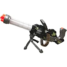 Thunder Fire Military Combat Toy Machine Gun with Colorful LED Light and Sound Effect