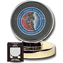 BCW Hockey Puck Display Holder with Gold Base (Display Case)