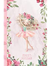 Kenzie's Notebook: Dance & Ballet Jorunal for Girls, 108 lined pages 6x9