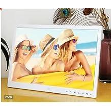 Minidiva 15 Inch 16:9 Digital Photo Frame - Ultra slim Narrow Rim 1440 x 900 High Solution Electronic Picture Frame with USB,USB mini,SD Interface(White)