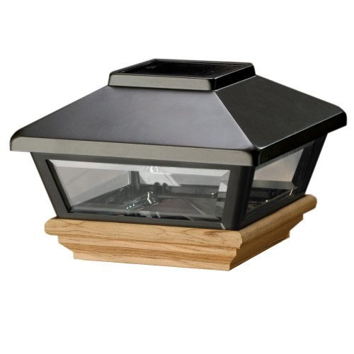 solar post cap lights 4x4 uk caps amazon black treated base decking 3x3