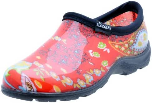 Sloggers 5104RD09 Womens Garden Shoe, Paisley Red, Size 9