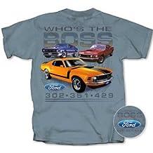 1969, 1970, 1971 Ford Boss Mustang T-shirt 302, 351, 429 Cobra Jet, Large