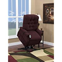 Medlift 1553W-AABE Wide-Petite Three Way Reclining Lift Chair, Aaron Berry