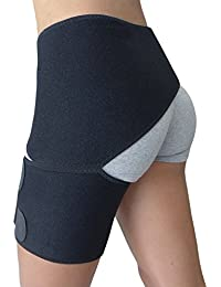 Hip Brace - Groin Support for Sciatica Pain Relief Thigh Hamstring Quadriceps Hip Arthritis - Best Compression Groin Wrap for Pulled Muscles Hip Flexor Joint Pain - Sciatica Brace SI Belt Men Women