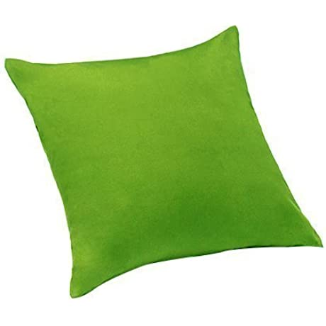 Lime Green Extra Large 24 60cm Scatter Sofa Cushion 100 Cotton Twill With Zip Cover Ready Filled With Hollowfibre Pad By Changing Sofas
