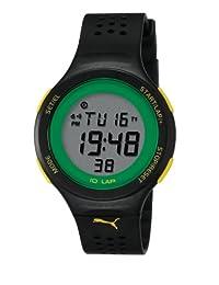 Puma Unisex Active PU910931001 Black Rubber Quartz Watch with Digital Dial