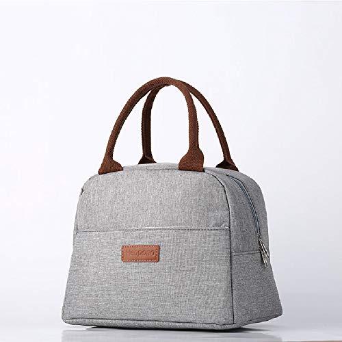 Bolsa de almuerzo, bolsa de almuerzo termica/enfriadora, con gran capacidad y material impermeable Bolsa Portatil Aplicar para hombres y mujeres Escuela/oficina/picnic (gris)