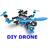 Top Race DIY Drone Building Blocks 2.4GHz Remote Control Drone, Build it Yourself and Fly, 54 Pieces (TR-D5) for ages 14+