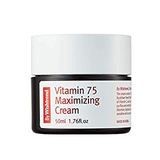 [BY WISHTREND] Vitamin 75 maximizing cream, facial moisturizers, vitamin C&E, 50ml | All skin type, light-texture, refreshing-finish