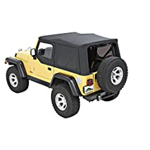 Pavement Ends by Bestop 51197-35 Replay Black Diamond Soft Top with Tinted Back Windows for Jeep Wrangler