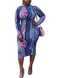 117ba1221 Plus Size Dress - Sexy Plus Size Bodycon Dresses African Party Casual Midi  Dress