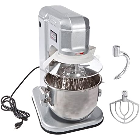 Axis Equipment AX M7 Stainless Steel Commercial Planetary Mixer 7 Quart Capacity 19 Width X 21 Height X 12 Depth