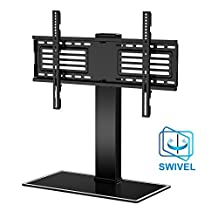 Fitueyes Universal TV Stand with Swivel mount for 32''-65''TV Height Adjustable FTT105001GB