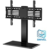 Fitueyes Universal TV Stand with Swivel mount for 32-65TV Height Adjustable FTT105001GB