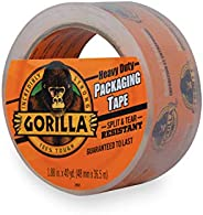 "Gorilla Heavy Duty Large Core Packing Tape for Moving, Shipping and Storage, 1.88"" x 40 yd, Clear, (Pack"