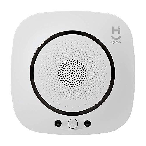 Sensor Inteligente de Gas Geonav Branco compativel com Alexa