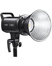 Godox SL100D Luz de vídeo LED, 100W CRI96+ TLCI97+ 5600K, 32100Lux@1m, 8 efectos de iluminación, control Bluetooth aplicación, ángulo de haz de 120° para fotografía de YouTube Studio, grabación de vídeo