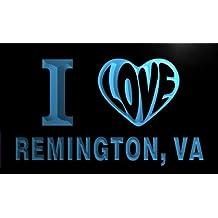 v68238-b I Love REMINGTON, VA VIRGINIA City Limit Neon Light Sign