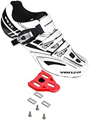 Venzo RX Bicycle Unisex Men's or Women's Road Cycling Riding Shoes - Compatible with Peloton Shimano S