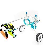 MJY Perro alimentos para mascotas para perros Cama silla de ruedas para mascotas Pet Shop, Vespa, mascotas Rehabilitación vehículo de formación, hecho de aleación de plomo, ligero y duradero asiento