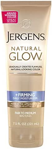 Jergens Natural Glow +FIRMING Daily Moisturizer for Body, Fair to Medium Skin Tones, 7.5 Ounces