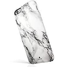 "iPhone 6 6s case marble, Akna® New Glamour Series [All New Design] Flexible Soft TPU cover with Fabulous Glossy Pattern for both iPhone 6 & iPhone 6s(4.7""iPhone)[White Marble](25-C.A)"