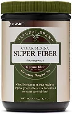 GNC Natural Brand Clear Mixing Super Fiber, 30 Servings, Promotes Intestinal Health
