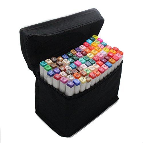 TouchLiit Markerstifte-Set, mit zwei Spitzen pro Stift, alkoholbasierte Tinte, 80 Farben Animation