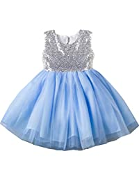 d143be7c4c 18-24 month 1 Year Old 2t Blue Toddler Dresses Trendy Spring Fancy Puffy  Halter