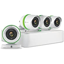 EZVIZ FULL HD 1080p Outdoor Surveillance System, 4 Weatherproof HD Security Cameras, 4 Channel 1TB DVR Storage, 100ft Night Vision, Customizable Motion Detection