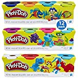Play-Doh 4-Pack of Colors 16oz Gift Set Bundle Gift Set Gift Toy for Boys and Girls (12 Cans & 48oz Total) - 3 Pack (3 pack of 4, Variety)