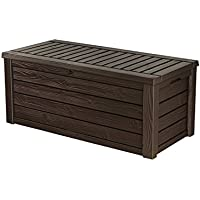 Keter Westwood Plastic Deck Storage Container Box Outdoor...