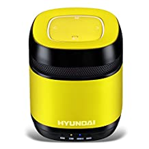 The latest stylish Hyundai i70 portable Bluetooth speaker /Support LINE IN / pro radio FM play (Yellow)