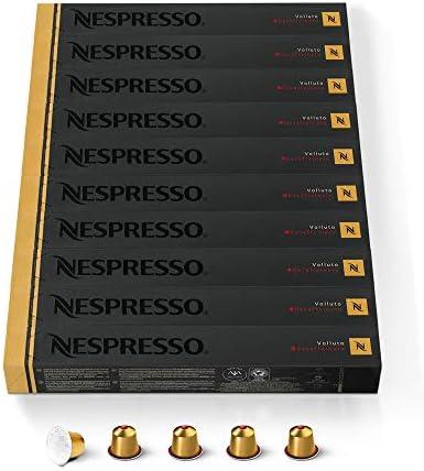 NESPRESSO CAPSULE ORIGINALI – Volluto Decaffeinato,100 capsule di caffè Linea Original, Riciclabili