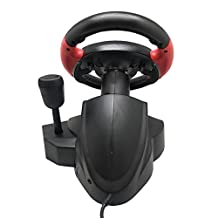 Game Steering Wheel Computer Video Game Racing Wheels Dual Motor Vibration Simulation Motors PS D-Input/X-Input Steam FT33 Series 200° Rotation Angle