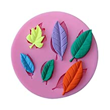 Witkey 6 Cavity Maple leaves Shape DIY Non Stick Cake cookie Decorating Fondant Candy Sugar Silicone molds Soap Decorating molds